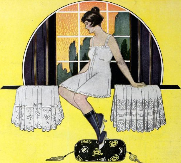 woman window vintage