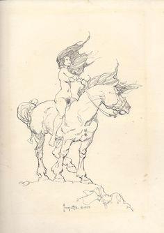 title frazetta girl on horse 1975 artist frank frazetta all