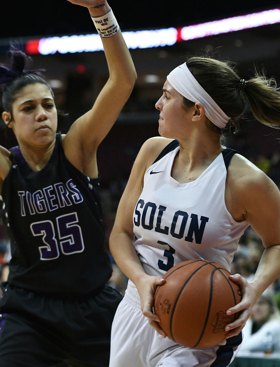 solon girls basketball cannot finish comeback falls to pickerington central 49 45