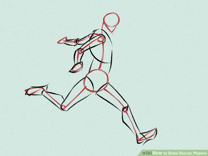 image titled draw soccer players step 2