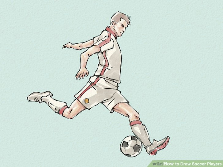 Drawing Of A Girl Playing Football How to Draw soccer Players Wikihow