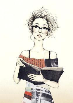 illustration girl reading reading art reading books bedtime reading happy reading