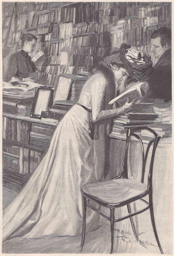 rene reinicke 1860 1926 or fliegende blatter band cxiv bild 188 portraits of women reading in 2018 pinterest books woman reading and reading