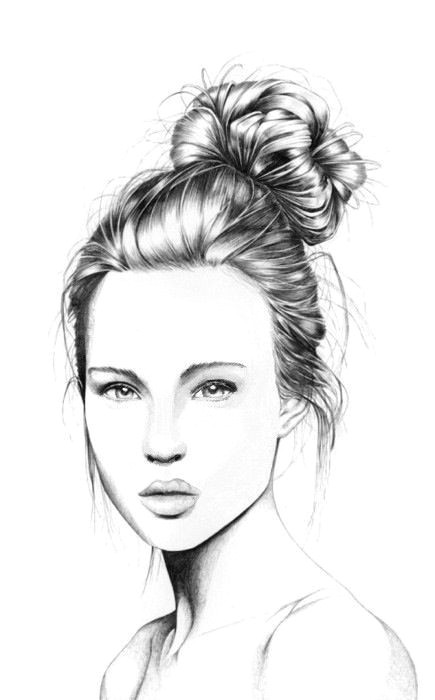 Drawing Of A Girl Realistic Line Art Drawings Pretty Girls Bing Images Drawing Pinterest