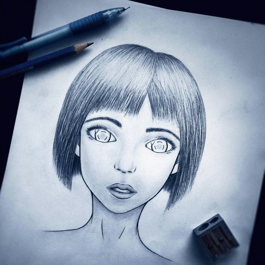 semi realistic anime girl completed by s1rbrad3th