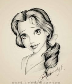 love her eyes pencil drawing belle by nansmith