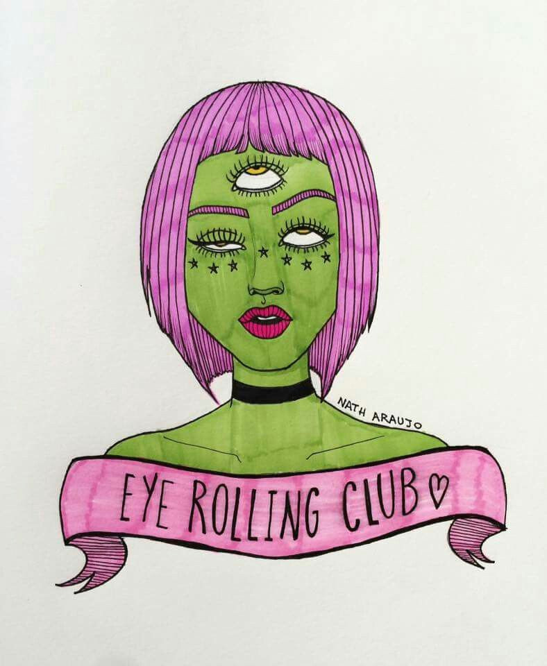 Drawing Of A Girl Rolling Her Eyes Eye Rolling Club D D D Mind Drawings Art Art Drawings