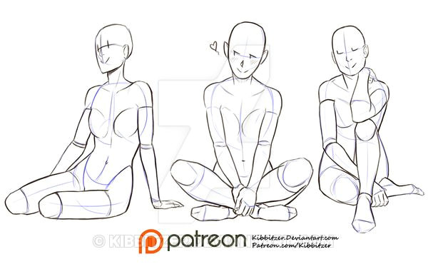 Drawing Of A Girl Sitting On the Ground Kibbitzer is Creating Reference Sheets Tutorials and More V Roce