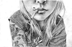 girl smoking by thischaos on deviantart smoke drawing free girl girl smoking deviantart