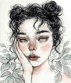 heavy weekend drawing girl instagood kunst bilder aquarellfarben