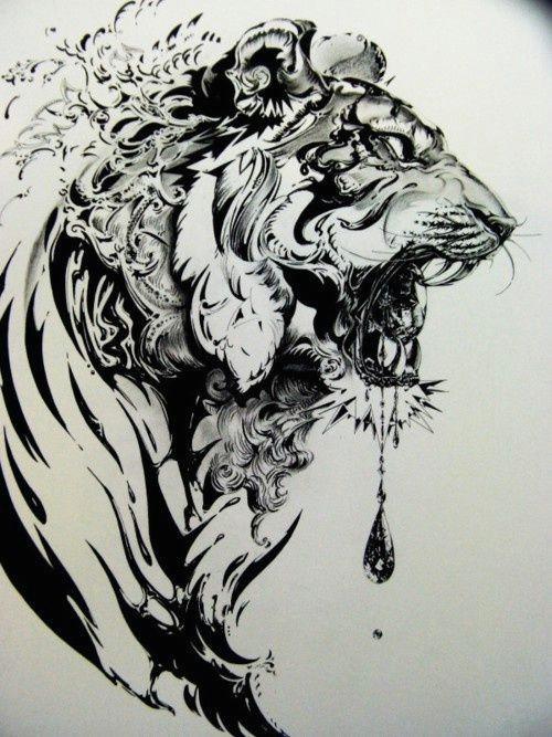 tiger headdress tiger thigh tattoo tiger tattoo design tiger stripe tattoo tiger design