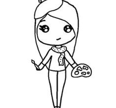 artist chibi template chibi girl drawings cute cartoon drawings kawaii drawings easy drawings