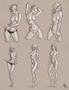 female croquis the shape form