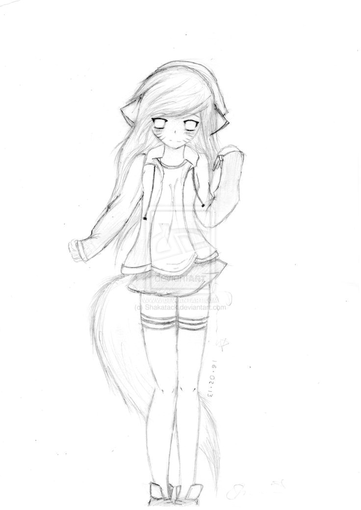 anime cat people female anime cat girl the question how to draw