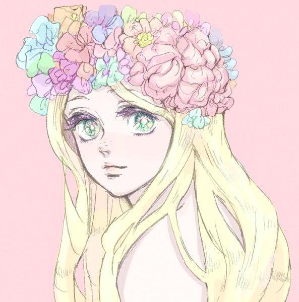 anime escape i i kawaii art kawaii anime flower crown drawing flower