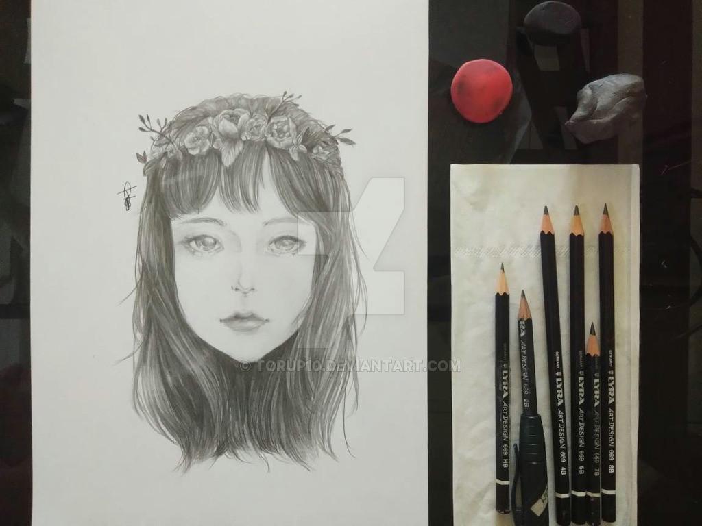flower crown girl by torup10