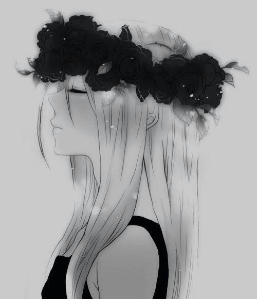 my teacher once called me a hippy so flower crown