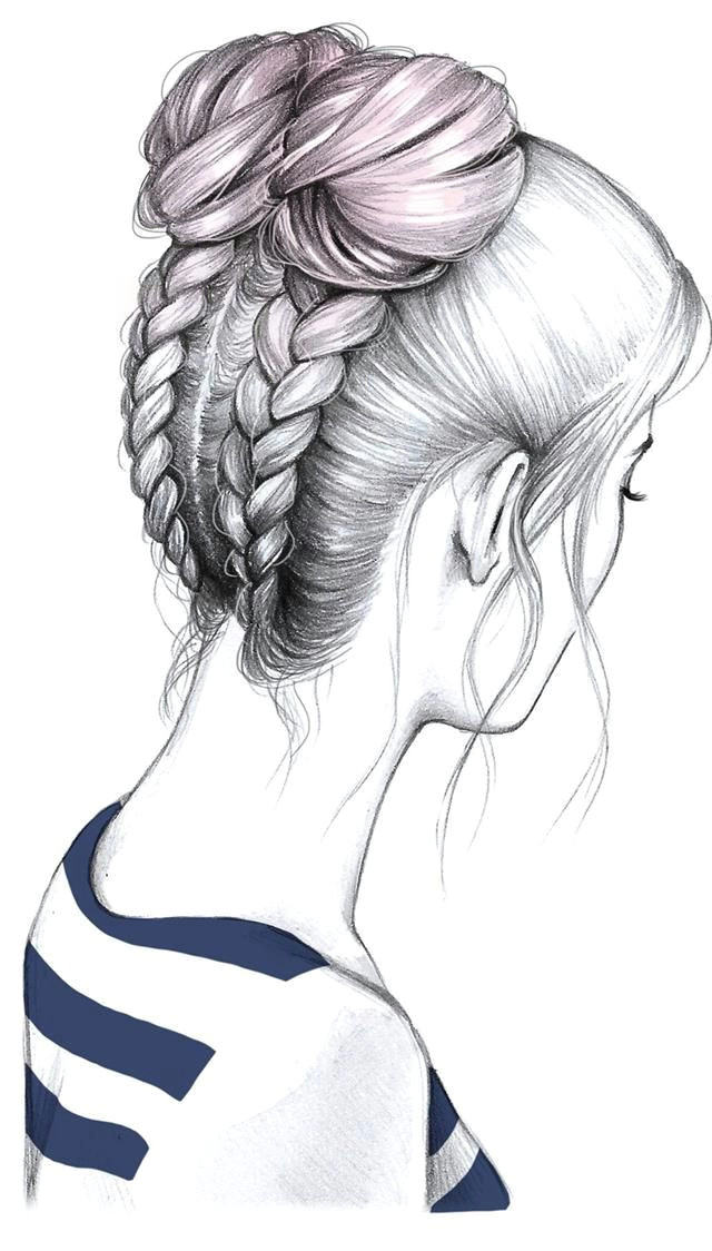 rodete bien sujeto amazing drawings pretty drawings beautiful drawings drawing hair drawing
