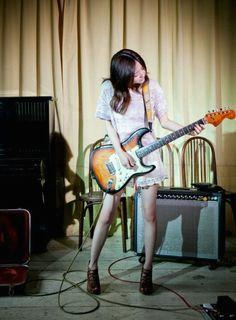 3 guitar girl music guitar cute girls