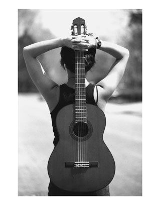 woman with guitar music is not property it is art it is love it is devotion it is prayer you cannot possess it osho