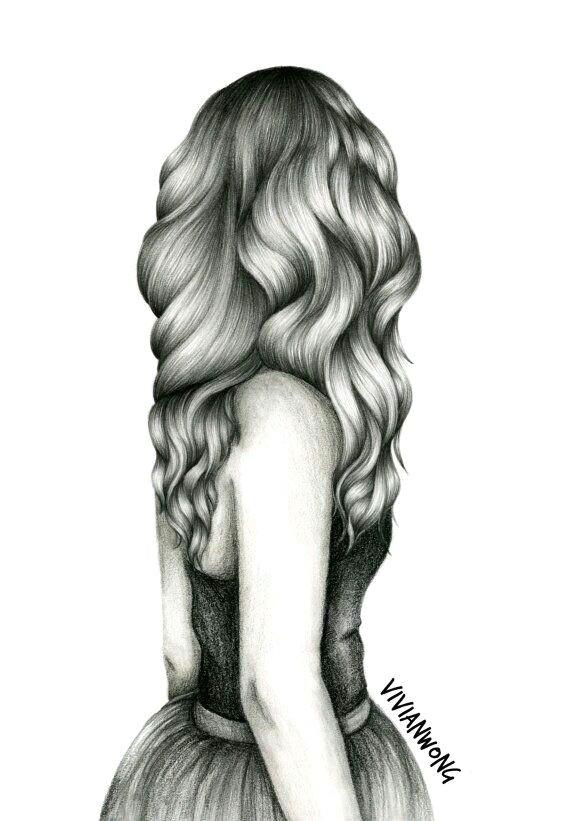 drawing hair drawings of girls hair drawings of hair pencil drawings