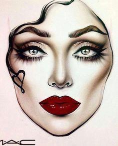 goddess leach mac face charts makeup face charts face makeup makeup looks