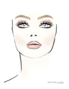 the makeup sketch at marissa webb nyfw drawing tips face makeup fashion sketches