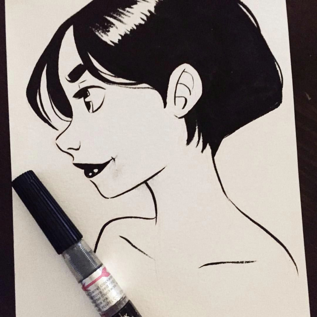 and another inktober to catch up inktober2015 girlsinanimation sketch doodle pentelbrushpen drawing