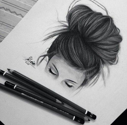 untitled heart drawings hipster drawings drawings of girls hair sketches of girls