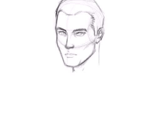 how to draw a male face