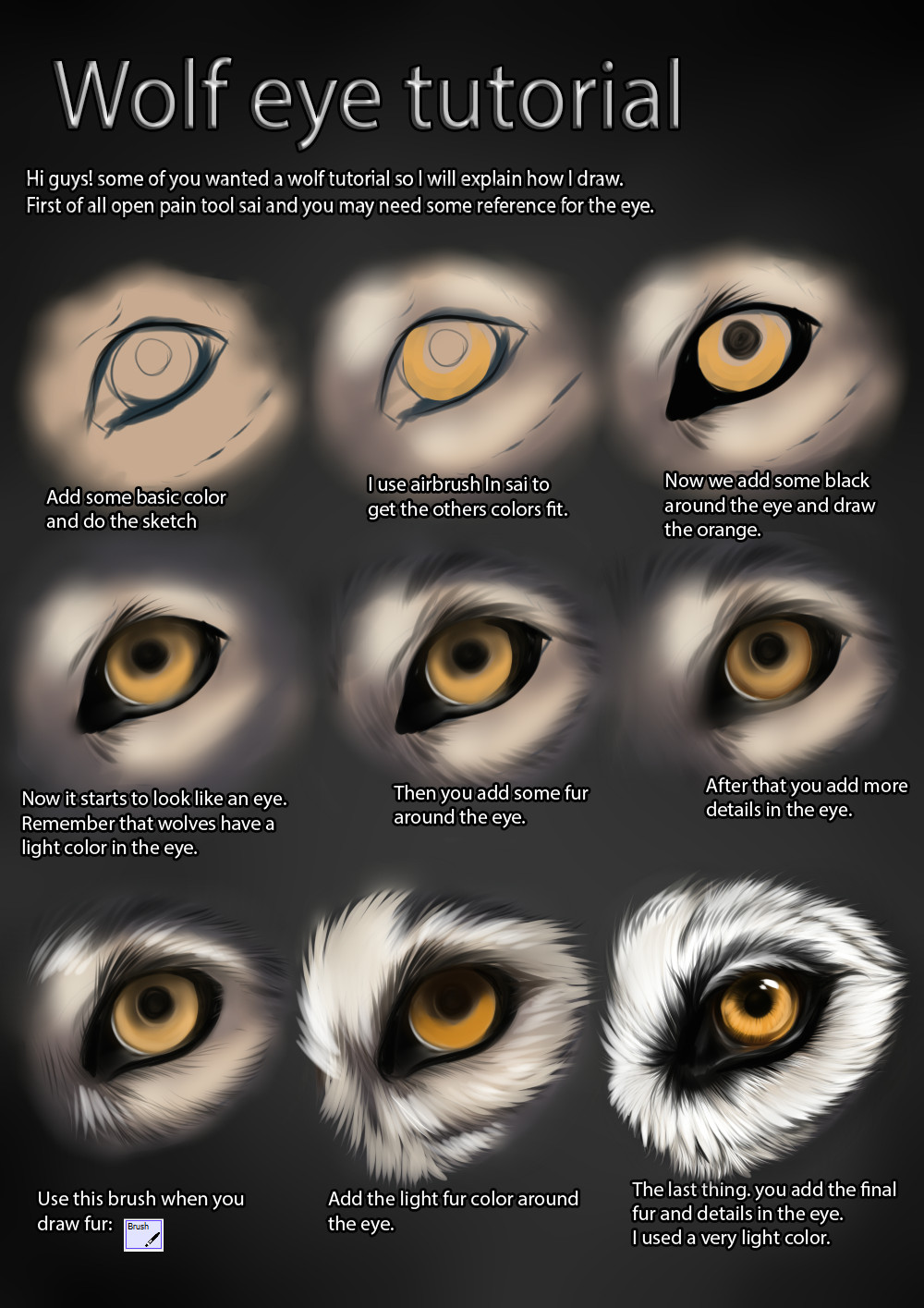 wolf eye tutorial by themysticwolf deviantart com on deviantart