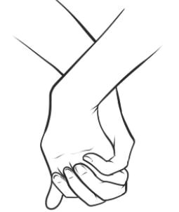 holding hands sketch