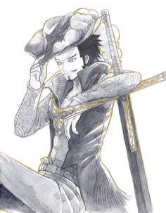 mihawk by chulmardani falkenauge zeichnen one piece manga zoro hawkeye piraten