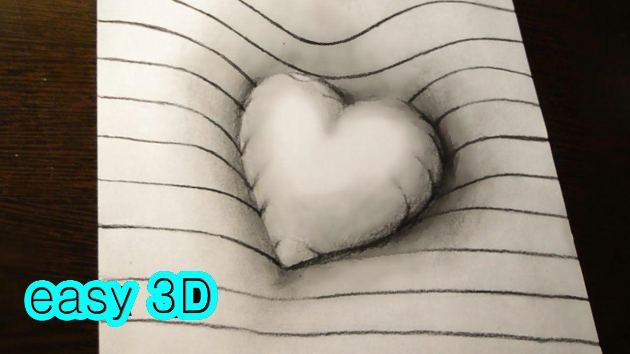 Drawing Of A Heart In 3d D D Do D D N D N D D D N N D N D N N D D 3d N D N N D D Do D D D D D D Dod N D D D D N D D Easy 3d