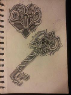skeleton key tattoo heart locket with skeleton key tattoo flash