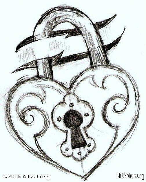 Drawing Of A Heart Lock Pin by Tentang Hati On Love Drawings Pinterest Drawings Easy