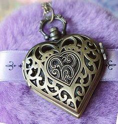 1073 12 pcs lot free shipping fashion vintage antique bronze heart shaped