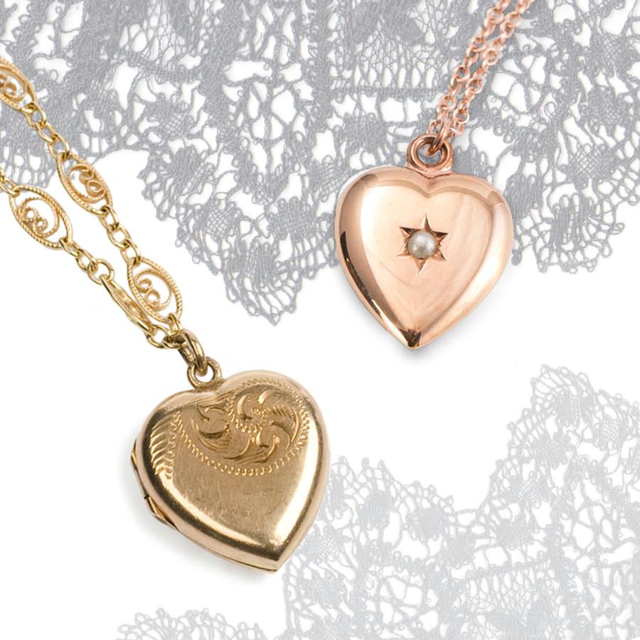 vintage heart locket 9ct