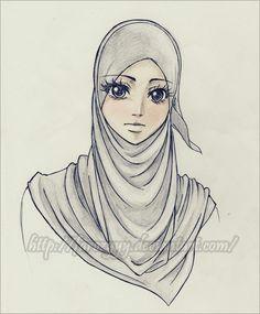 Drawing Of A Hijab Girl Sketches Of Hijab Girls Google Search Sketches Hijab