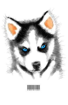 siberian husky art print by angelas society6 husky drawing watercolor animals watercolor paintings