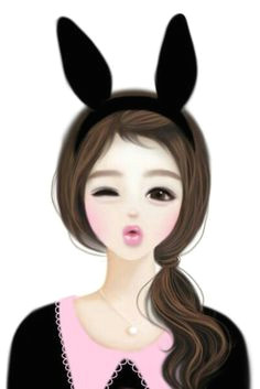 a u c a a a u a enakei illustration girl korean