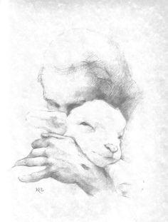 lambs sheep a jesus pencil drawings pencil sketch drawing jesus drawings pencil drawings lds art
