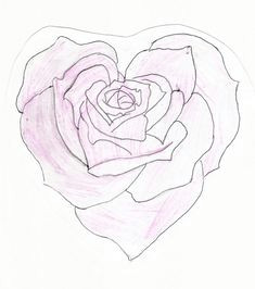heart shaped rose drawing heart shaped rose by feeohnah rose outline drawing outline drawings
