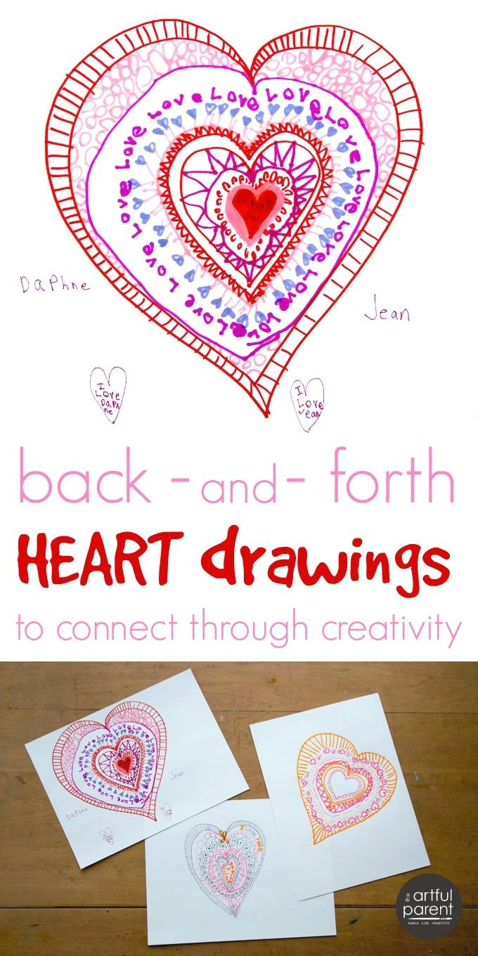 this interactive heart drawing activity is a fun way to celebrate love connect through creativity take turns adding layers to the heart
