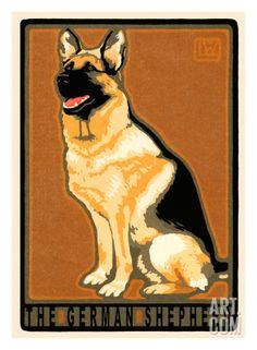 german shepherd print by laura wilder at art com buy german shepherd hiking dogs