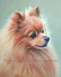 pomeranian fine art print by artbyjulene on etsy dog paintings dog portraits dog art