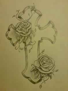 cross and rose tattoo designs cross and roses tattoo cute tattoos body art tattoos
