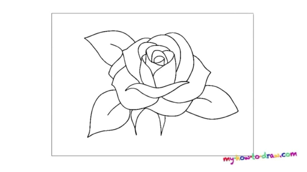 rose easy drawing how to draw a rose way to draw rose easy way 1