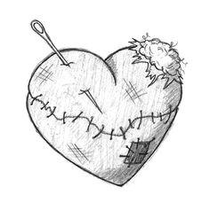 gallery for emo broken heart drawings