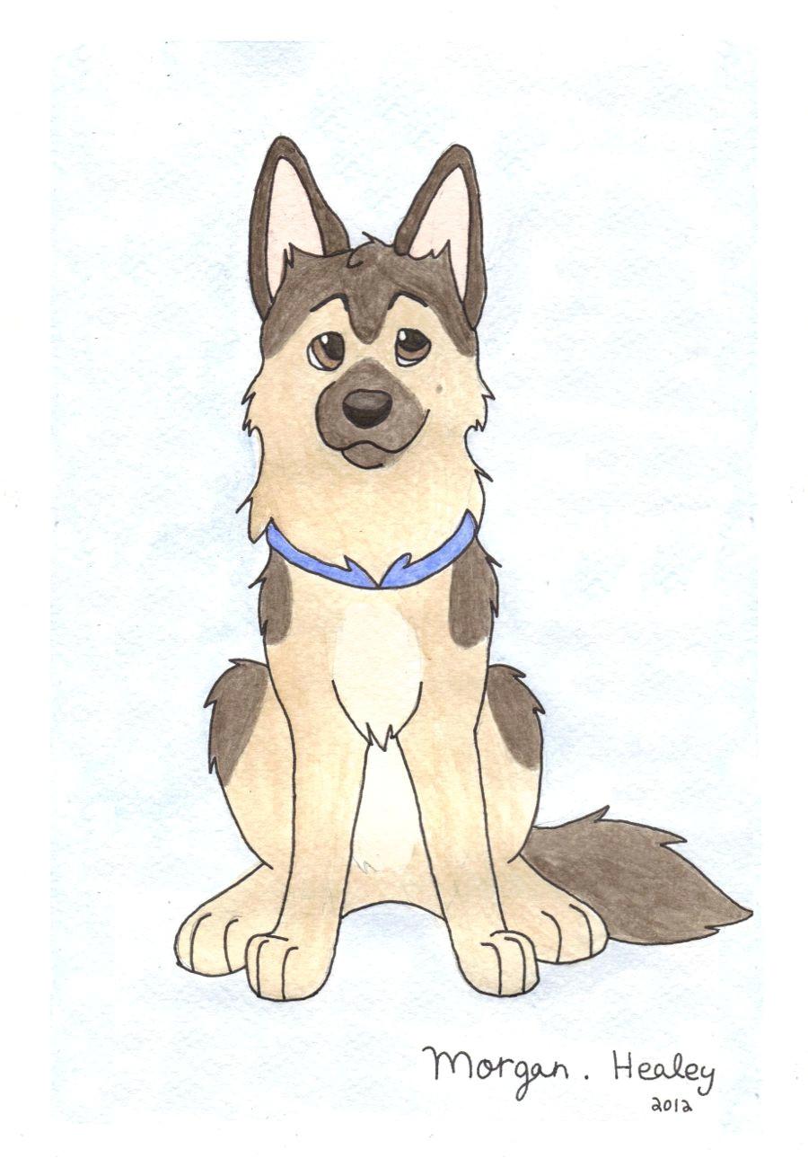 german shepherd by teal husky on deviantart dog drawings cartoon drawings drawing